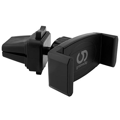 Halterung Lüftung (Die hochwertige Lüftungshalterung: Original grooveclip® AIR Slider - Handyhalterung Auto Lüftung Handy Halterung Handy Autohalterung Smartphone Halterung KFZ Halterung Handy Auto Handyhalterung)
