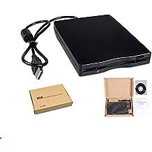 Ogquaton FDD portátil USB Floppy Disk 1.44 MB Reader Drive Unidad Externa de Disquete para Mac