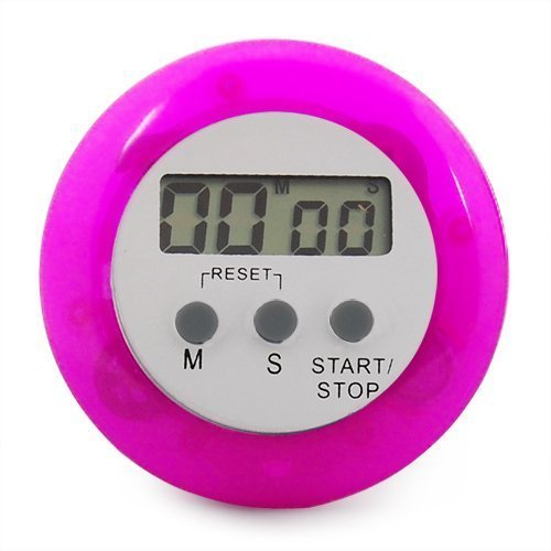 SODIAL(R) Temporizador de Cocina Digital Electronico Magnetico - Color Purpura/Rosa