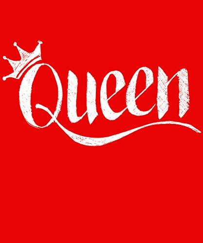 ::: KING & QUEEN ::: Pärchen T-Shirt Rot mit weißem Aufdruck QUEEN