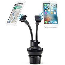 Supporto Auto Magnetico, iKross 2-in-1 Supporto da Portabicchiere e Parabrezza per Cellulare Smartphone – Doppio Bracci Corti