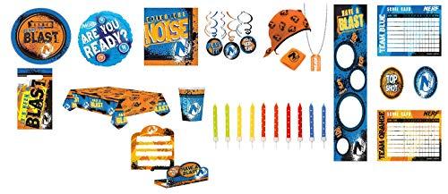 Mgs33 Mega Kit Plus Anniversaire 8 Enfants Nerf ( kit Officiel du Jeu de tir Nerf de Hasbro) Complet 102 Pieces 8 Enfants fête Nerf