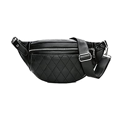 TTD La mode pu cuir taille banane sac à bandoulière sac sac à dos pochette de portable pour hommes ou femmes