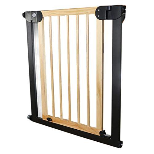 Hölzerne Haustür für Katze einstellbar weiß Baby Tor und Spiel Yard Wandschutz für Treppen Türen, 76-153 cm breit (größe : Width 97-104cm)
