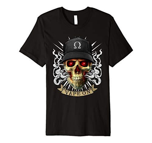 Vape T-Shirt Dampfender Totenkopf | E-Zigarette Vaping Skull