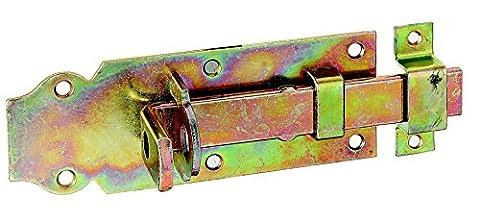 GAH-Alberts Verrou de box ou targette droit, pêne plat avec gâche fixe 140 x 52 mm Surface galvanisée à chaud
