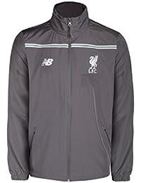 Liverpool FC Homme Vestes de sport New Balance Mens Jacket LFC Training Rain Jacket Grey S-XL New WSJM516