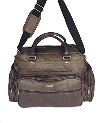 Mens Leather Holdall Luxury Travel Bag Gym Sports Bag Ladies Flight Bag Cabin Bag Weekend Bag In Brown - inexpensive UK light shop.