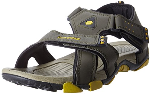 Lotto Men's Sandal Slide Olive Yellow GT7067 UK/IN 6