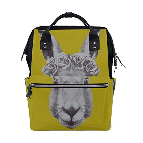 Elegante bunny piccolo coniglio borse per pannolini a grande capacità zaino per mamme funzioni multiple borsa per infermieri pannolino borsa per bambini cura del bambino viaggi quotidiani donne