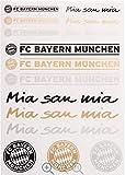 Aufkleberkarte FC Bayern München + Aufkleber München Forever, Sticker, Gesichtaufkleber etiqueta engomada/autocollant