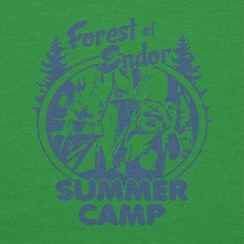NERDO - Forest of Endor Summer Camp - Herren T-Shirt Grün