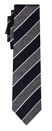 BOSS Seidenkrawatte wide stripe black