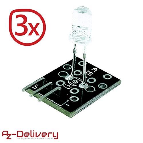 AZDelivery ⭐⭐⭐⭐⭐ 3 x KY-005 IR Infrarot Sender Transceiver Modul für Arduino mit gratis eBook! Ir-sender