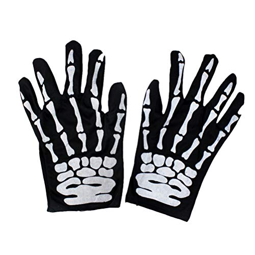andschuhe Unisex Winter Knochen Klaue Skeleton Ghost Vollfinger Handschuhe Warm Radfahren Handschuh für Hallowen Weihnachten Outdoor-Sportarten (zufällige Muster) ()