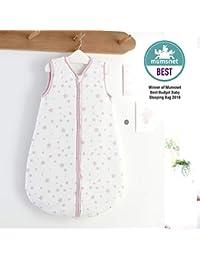 Silentnight Safe Nights 2.5 Tog Baby Sleep Bag, 0-6 Months, Pink Stars