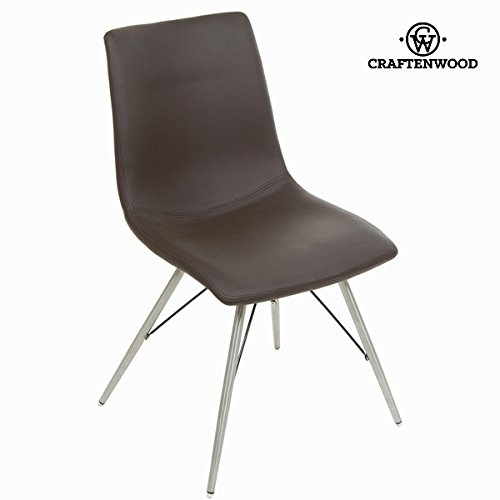 Brauner kunstleder-stuhl by Craften Wood