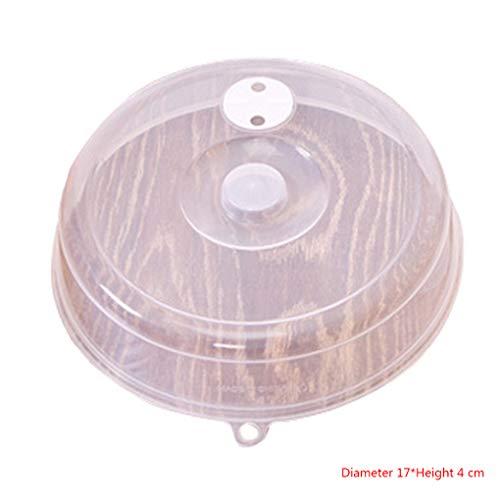 Sanitär-vent (Kakiyi Platten-Abdeckung Anti-Spritzer-Deckel für Mikrowelle mit Dampf Vent Bowl Food Protection Dome Kunststoff)