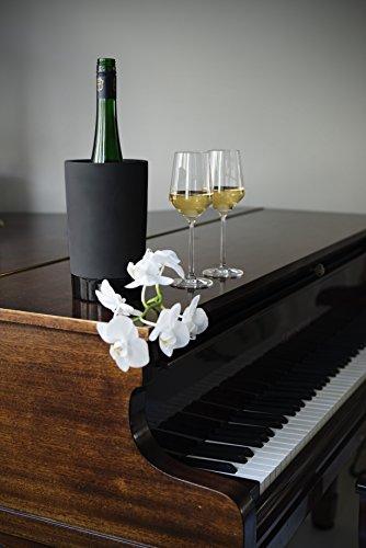 Magisso 70604 Flaschen- und Weinkühler in Keramik, hält das Getränk 4-6 Stunden natürlich abgekühlt durch Verdunstung, 12,7 x 12,7 x 20,9 cm - 14