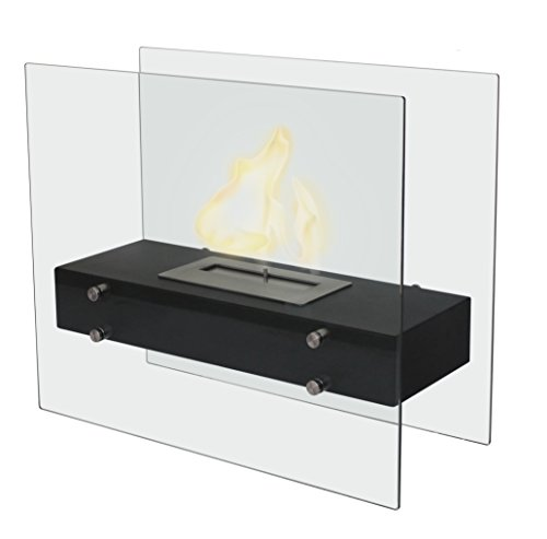 Gardeco BIOFP4 Vicenzo Bio-Ethanol Fireplace - Black
