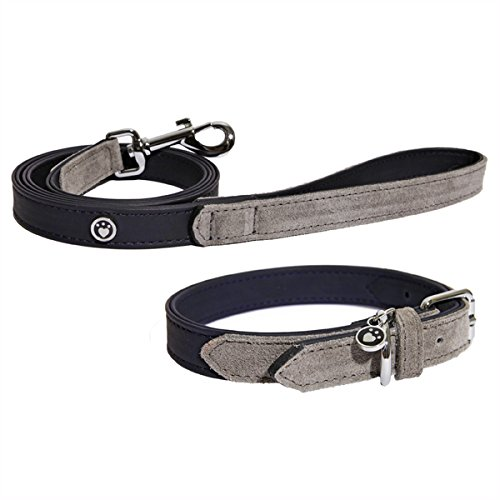 Rosewood-Luxury-Leather-Dog-Collar-8-12-Inch-soft-touch-navy