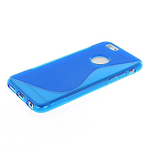 MOONCASE TPU Silicone Housse Coque Etui Gel Case Cover Pour Apple iPhone 6 Plus Gris Bleu