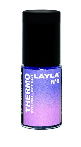 Layla Cosmetics 1259R23-006 Smalto Thermo, Effetto Polacco, Tonalità 6 Violet To Lilac