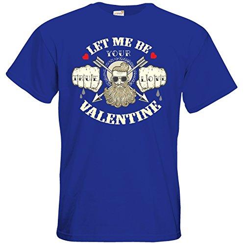 getshirts - RAHMENLOS® Geschenke - T-Shirt - Valentinstag Valentine True Love Royal Blue