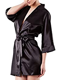 Dkaren - Kimono/Morgenmantel aus Satin - 90