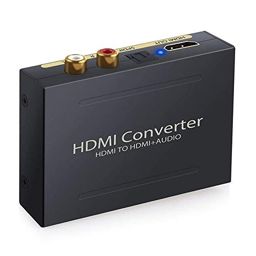 Expresstech @ Digitaler Audio Konverter HDMI zu HDMI Audio SPDIF / Toslink + RCA L/R Audio Converter für TV Apple Blu-ray DVD Player Xbox One SKY HD box PS3 PS4 Hdmi Digital Audio