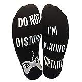 'Do Not Disturb, I'm Playing Fortnite' Funny Ankle Socks - Great Gamer Gift For Fornite Lovers (UK SELLER) Bild