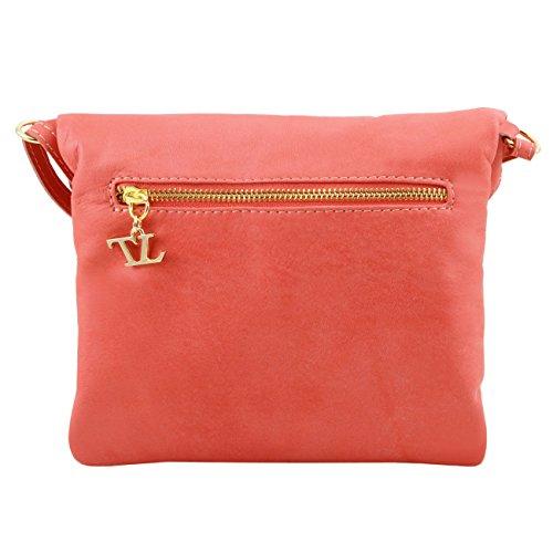 Tuscany Leather TL Young bag Schultertasche aus Leder mit Quasten Cognac Beige