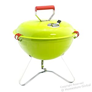 HomeStore-Global, BBQ Parties / Camping Portable Light Weight Grill Charcoal Barbecue, Fun for BBQ Party (Green)