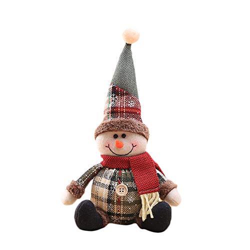 HROIJSL Cartoon Puppe Kind Schneeflockengitter Stoffpuppe Weihnachtsbaum Deko Weihnachts Schmuck Geschenk Weihnachtsmann Schneemann Baum Spielzeug Puppe Hängen Dekorationen