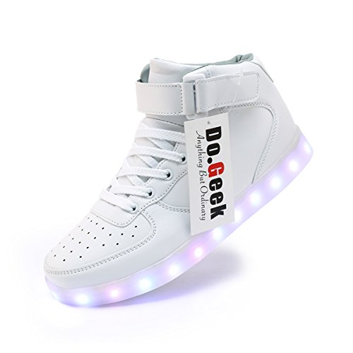 DoGeek-Zapatos-Led-Negras-Hombre-7-Color-USB-Carga-LED-Zapatillas-Luces-Luminosos-Zapatillas-Led-Deportivos-para-Hombres-Mujeres-Elegir-1-tamao-ms-Grande