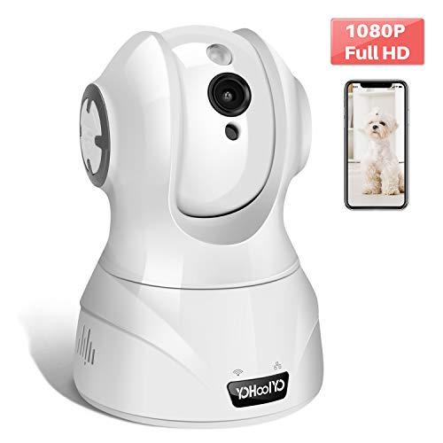 YOHOOLYO WLAN Kamera IP Überwachungskamera 1080P FHD mit Bewegungserkennung, 2 Wege Audio, Nachtsicht, Intelligenter Rotation, APP Fernalarm, Indoor für Baby und Haustier Alexa (Verpackung MEHRWEG) (Babysitter Kamera)