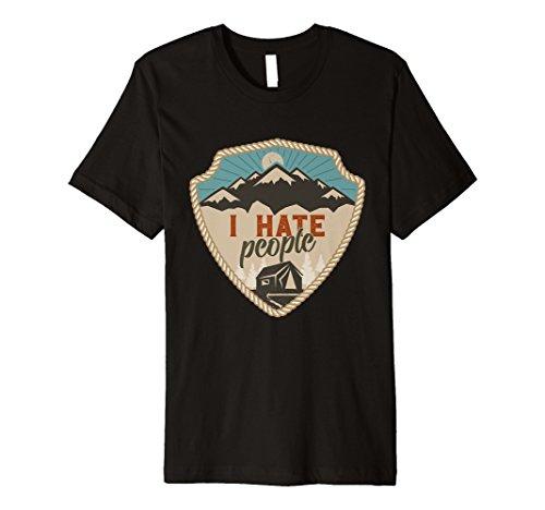 I hate Menschen Leben ist besser um der Lagerfeuer Shirt -