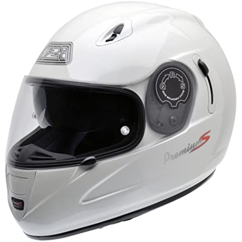 NZI 010193G008 Premium Pearl White, Casco da Moto, Bianco, Taglia XL - Moto Pearl White Moto