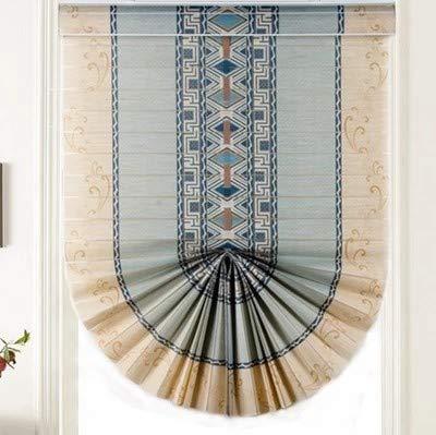 Horizontal blinds ufficio del rullo tenda ascensore tirare,bagni soggiorno balcone parasole tenda impermeabile privacy vasta uv protezione magnetica persiane-blu 94x162cm(37x64inch)