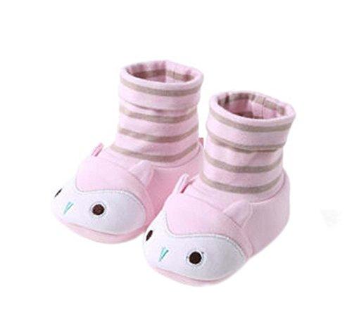 2PCS coton Shoes Mignon Crib Shoes pour Chaussures enfant nouveau-né Shoes rose tendre