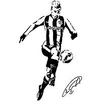 Antoine Griezmann Cuadro Atletico Madrid Logo Deporte Calcomanías De Papel Tapiz Jugador De Fútbol Cartel Firma Clásica Ataque Lateral Vinilo Decoración Murales,L