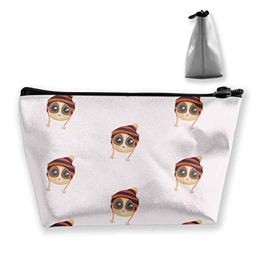 Beanies Slow Loris Travel Toiletry Bag Novelty Cosmetic Bag Storage Bag Large Accessories Organizer Beanie Wells