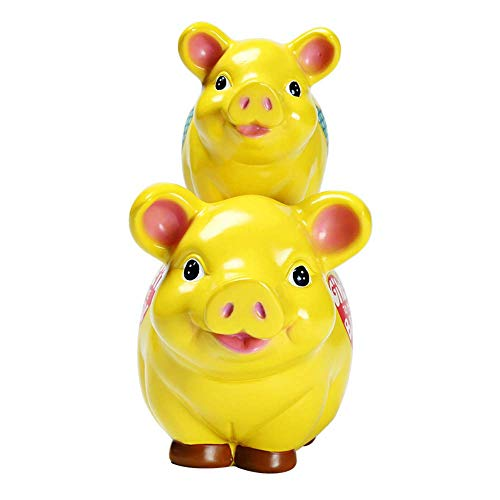CUNQIAN Pig Ceramic Money Box Piggy Bank - Select Style - Ideale Münzbank Money Saver (Retirement Fund) Gift Box Coin Geld Sparbügel Spielzeug -