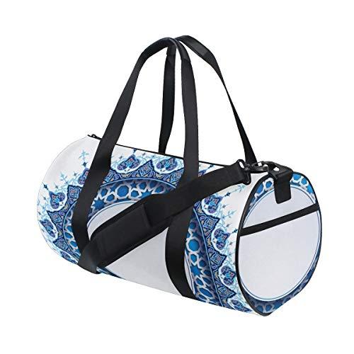 Persian Style Ethnic Custom Leichte Große Yoga Gym Totes Handtasche Reise Canvas Duffel Taschen Mit Schulter Crossbody Fitness Sport Gepäck Für Mädchen Männer Frauen