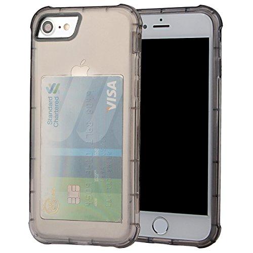 """xhorizon [Ultra Hybrid] [Air Cushion] Shock-Absorption Stoßfänger und Anti-Scratch Clear Zurück Ultra-schlanke Schutz-Clear Cover mit versteckten Card Slot für iPhone 7 [4.7""""] #2"""