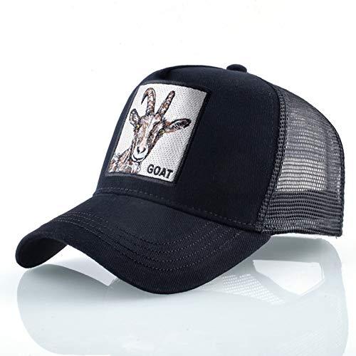 Knochen Von Der Ziege (UVYANG Mode Baseball Kappe Männer Frauen Hip Hop Knochen Bill Ziege Stickerei Streetwear Trucker Hüte Atmungsaktive Mesh Schwarz Hut)