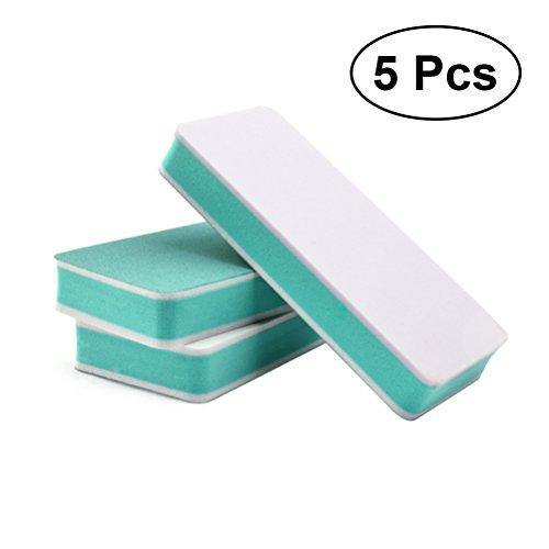 Lot de 5 éponges Frcolor lavables pour ongles - Double face - Tampons à ongles - Limes à ongles - Blocs de ponçage