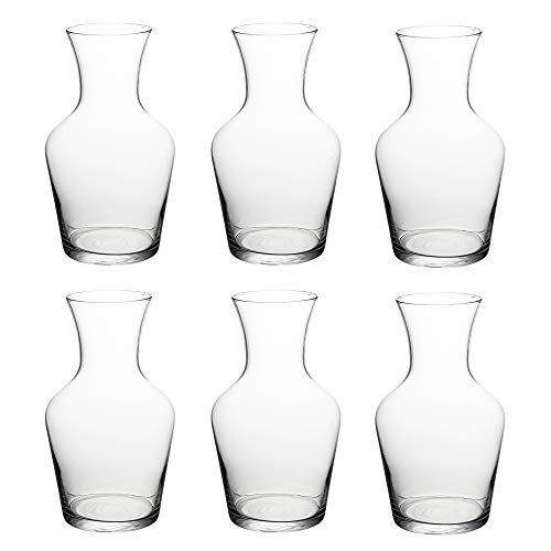 Luminarc Glaskaraffe, 6 x 1 l, für Restaurants, Cafés, Bars, Restaurants etc. - Großkauf (Bulk Dekanter)
