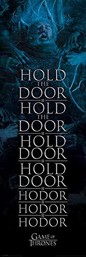 Spiel der Throne 'Halten die Tür Hodor' Tür Poster,53 x 158 cm