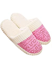 New New Fashion Women Ladies Home Floor Soft Slippers Female Cotton-padded Shoes Winter Soft Warm Slippers Shoes... - B0758F47C3